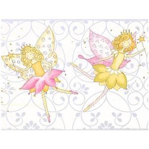 York Wallcoverings Prepasted Kids Butterfly Fairy Wallpaper Border