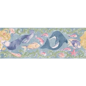 Norwall Prepasted Painted Mermaid Colorful Wallpaper