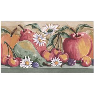 Norwall Prepasted Fruits Wallpaper Border
