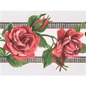 Norwall Prepasted Painted Bloomed Wallpaper
