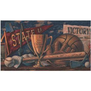 York Wallcoverings Prepasted College Sports Trophy Wallpaper