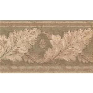 York Wallcoverings Prepasted Distressed Leaves Wallpaper - Beige/Green