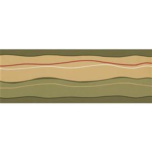Norwall Prepasted Wavy Wallpaper Border - Green