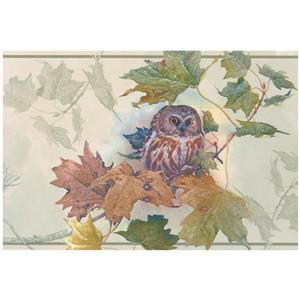Norwall Prepasted Owl Nature Wallpaper Border