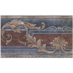 Norwall Prepasted Abstract Vines and Scrolls Wallpaper - Amber