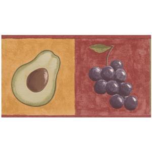 Retro Art Prepasted Vegetable Wallpaper Border