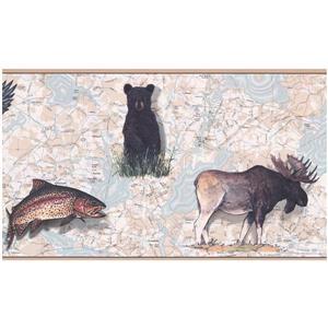 York Wallcoverings Prepasted Animal Wallpaper Border