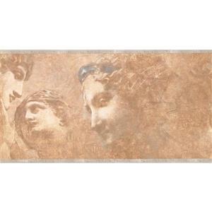 York Wallcoverings Prepasted Ancient Rome Sculpture Wallpaper - Beige