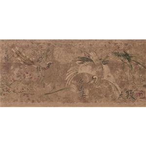 York Wallcoverings Prepasted Japanese Birds Wallpaper  - Cherry