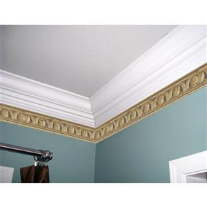 York Wallcoverings Prepasted Victorian Distressed Wallpaper Border - Latte
