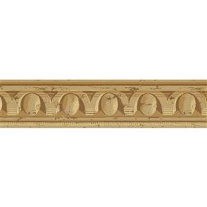York Wallcoverings Prepasted Victorian Distressed Wallpaper - Brown