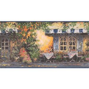 Retro Art Prepasted Country Cafeteria Wallpaper Border