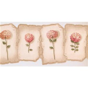 Retro Art Prepasted Hydrangea and Hortensia Wallpaper - Hot Pink