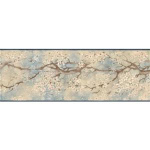 Retro Art Prepasted Sakura Cherry Bloom Wallpaper Border