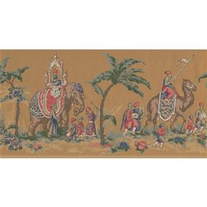 York Wallcoverings Prepasted Vintage Riders on Camel Wallpaper