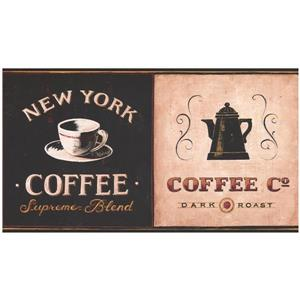York Wallcoverings Prepasted Coffee Shops Wallpaper Border