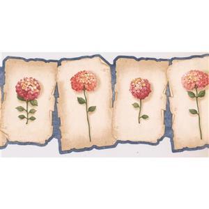 Retro Art Prepasted Hydrangea and Hortensia Wallpaper - Pink