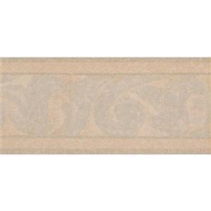 York Wallcoverings Prepasted Abstract Wallpaper Border - Grey/Beige
