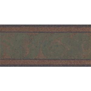York Wallcoverings Prepasted Abstract Wallpaper Border - Green/Brown