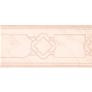 York Wallcoverings Prepasted Abstract Wallpaper Border - Beige