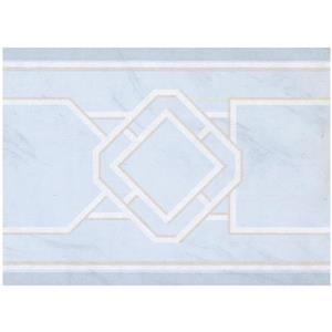 York Wallcoverings Prepasted Abstract Wallpaper Border - Arctic Blue