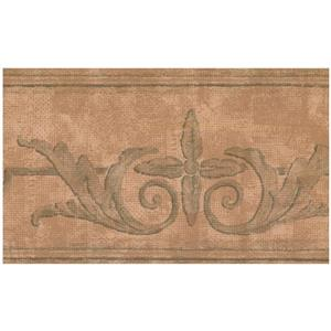 York Wallcoverings Prepasted Damask Baroque Wallpaper - Brown
