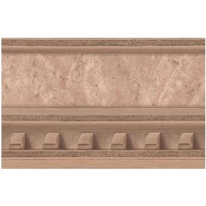 York Wallcoverings Prepasted Victorian Faux Molding Wallpaper - Rust