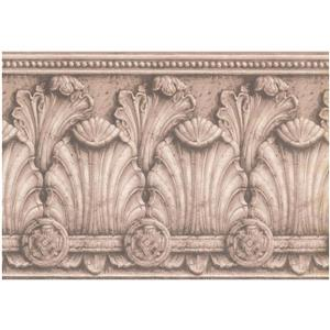 York Wallcoverings Prepasted Victorian Baroque Wallpaper - Coconut White