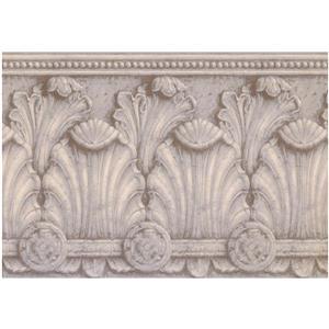 York Wallcoverings Prepasted Victorian Baroque Wallpaper - Beige/Grey