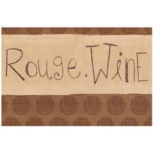 Norwall Prepasted  Wine Grapes Wallpaper Border - Brown/Beige