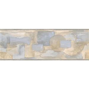 Norwall Prepasted  Abstract Rectangular Wallpaper Border