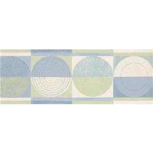 Norwall Prepasted Semicircle Wallpaper Border - Green/Beige