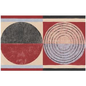 Norwall Prepasted Wallpaper Border - Lilac/Beige