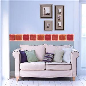 Norwall Prepasted Painted Squares Wallpaper - Orange
