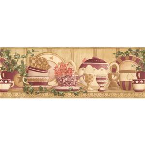 Retro Art Prepasted Vintage Kitchen Wallpaper Border