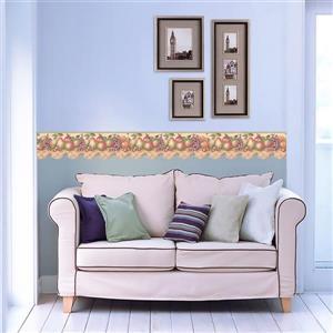 Retro Art Prepasted Fruit Wallpaper Border