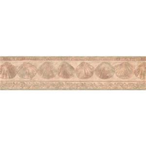Retro Art Prepasted Seashells Wallpaper Border