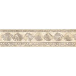Retro Art Prepasted Chiffon Seashells Wallpaper Border
