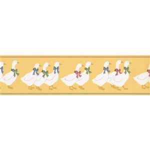 Norwall Prepasted Ducks Wallpaper Border - White