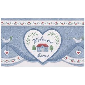 Norwall Prepasted Home Blessings and Hearts Wallpaper