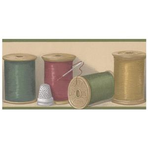 Norwall Prepasted Bobbins and Needle Wallpaper Border