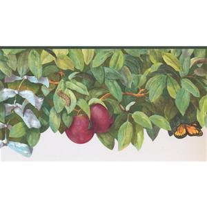 York Wallcoverings Prepasted Plums and Branches Wallpaper - Magenta