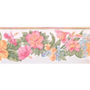 Retro Art Prepasted Wallpaper Border - Pink/Yellow