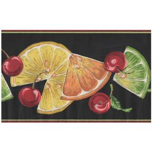 York Wallcoverings Orange Slices and Cherries Wallpaper