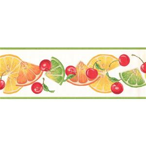 York Wallcoverings Lime Slices and Cherries Wallpaper