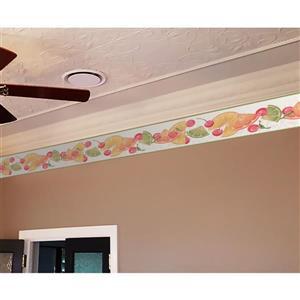 York Wallcoverings Orange Slices and Cherries Wallpaper - Mint
