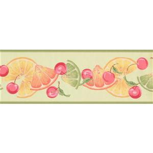 York Wallcoverings Lime Slices and Cherries Wallpaper - Green
