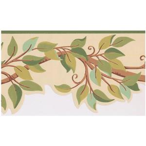 York Wallcoverings Leaves on Tree Branch Wallpaper  - Green
