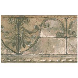 Norwall Vintage Brick Damask Wallpaper Border