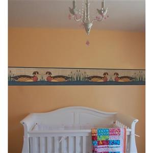 Norwall Floating Ducks Retro Wallpaper - Multicolored